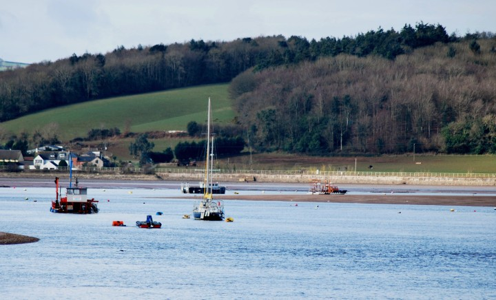 3 Exmouth boats at rest